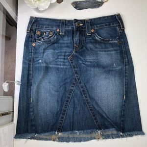 True Religion Abby Denim Skirt Size 27